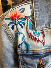Load image into Gallery viewer, Floral Driftwood Jean Jacket