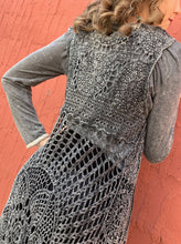 Load image into Gallery viewer, High-Low Double Layer Crochet Tunic - Charcoal