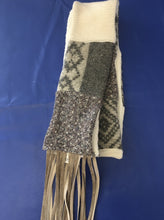 Load image into Gallery viewer, Repurposed Sweater Scarf - Khaki Fringe - 4 Colors