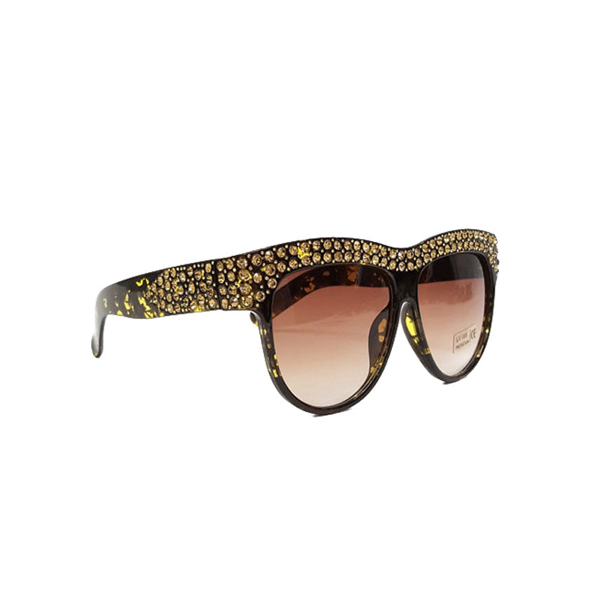 Total Bling Tortoise Sunglasses