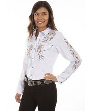 Load image into Gallery viewer, Western Button Down Top - Dream Catchers