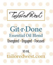 Load image into Gallery viewer, Git-R-Done Essential Oil Blend in Roller Bottle Label