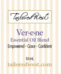 Ver'e'ne Essential Oil Blend in Roller Bottle Label