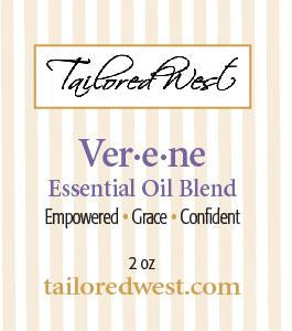 Ver'e'ne Essential Oil Blend in Spray Bottle Label