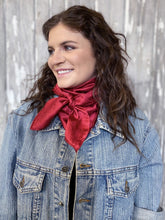 Load image into Gallery viewer, Scarlet Floral Wild Rag Scarf