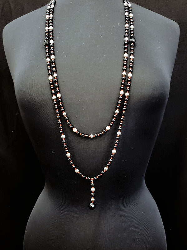 Alloys & Bling Double Layer Necklace - #9