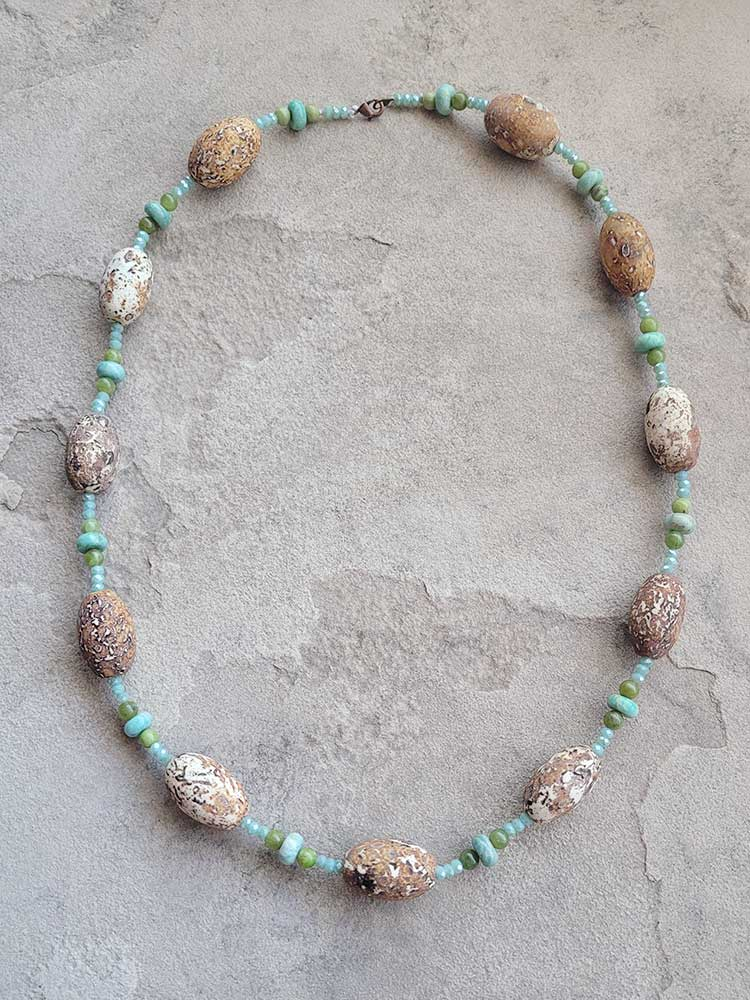 Amazonite and Jade Necklace
