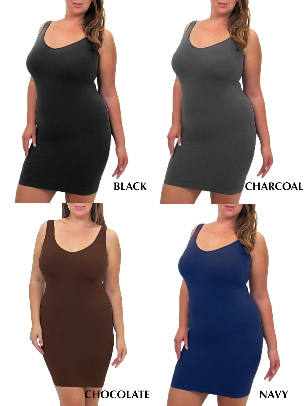 Extended Fit Reversible Tank Top Dress