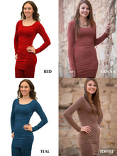Load image into Gallery viewer, Round Neck Long Sleeve Dress