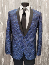 Load image into Gallery viewer, Granite Aries Paisley Slim Fit Tuxedo - Cobalt