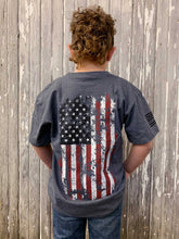 Load image into Gallery viewer, Youth Old Glory Short Sleeve Tee - Graphite Heather