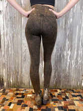 Load image into Gallery viewer, High Waisted Distressed Leggings - Brown