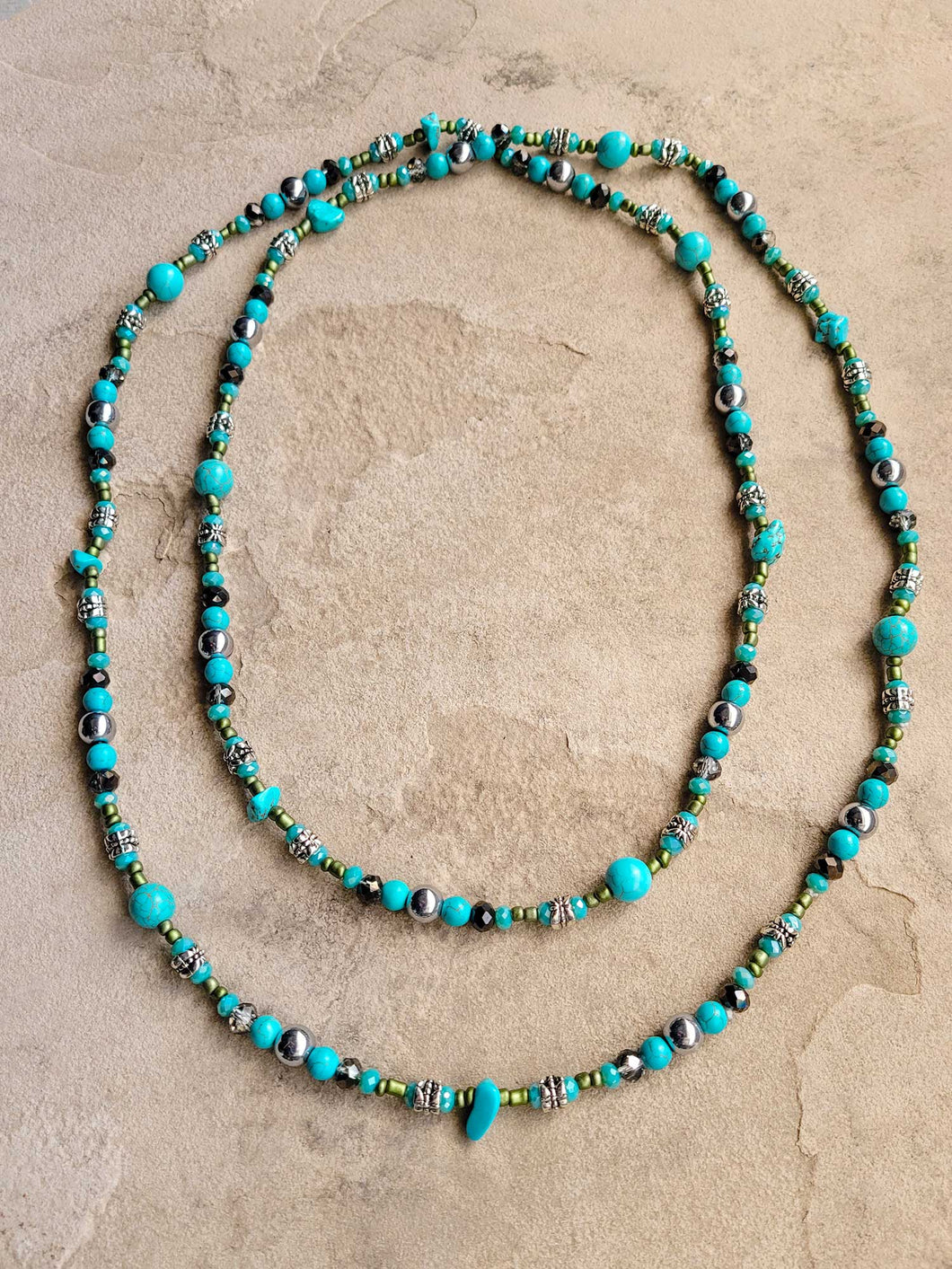 Turquoise Dreams Long Necklace