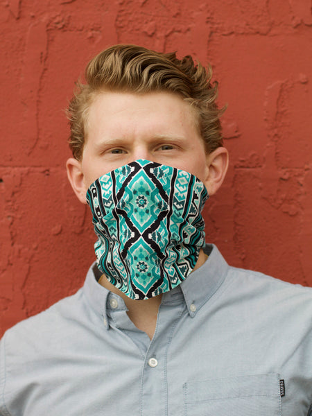 American Made Masks™ Fabric Mask - Aqua Waves
