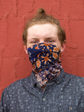 Load image into Gallery viewer, American Made Masks™ Fabric Mask - Blue Tapestry