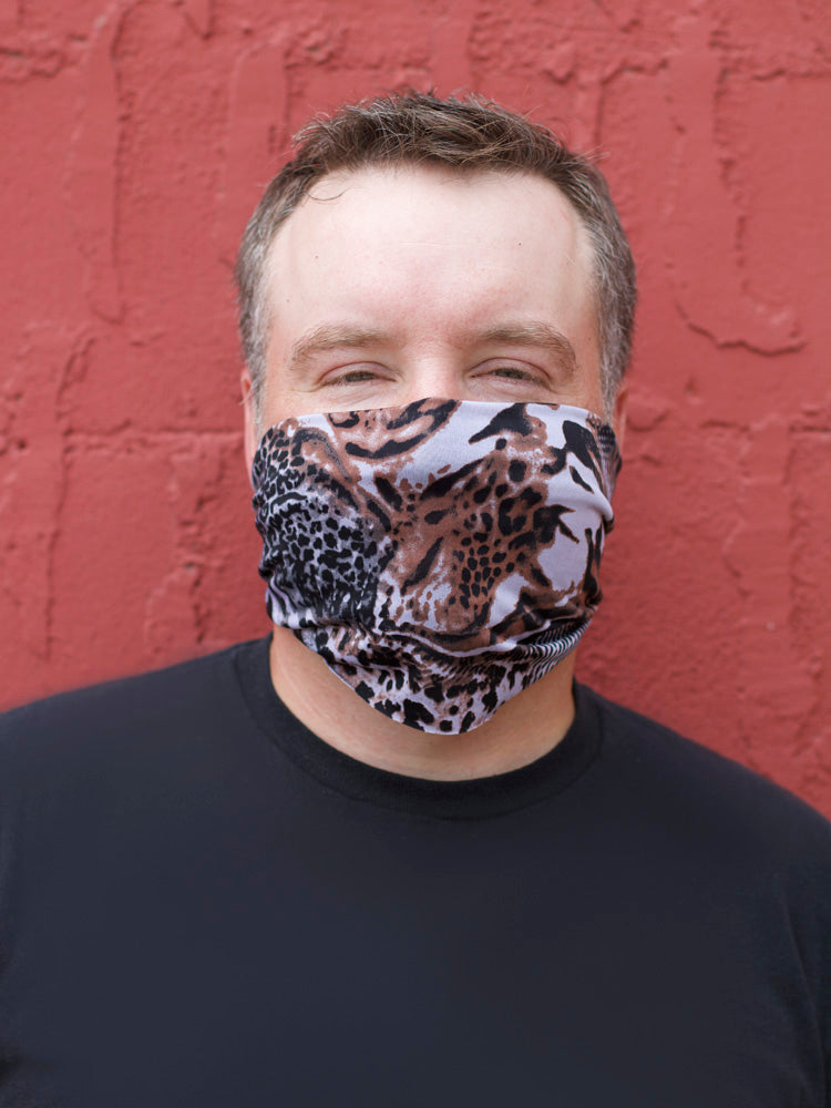 American Made Masks™ Fabric Mask - Peppered Animal Print