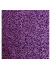 Load image into Gallery viewer, Purple Floral Wild Rag Scarf