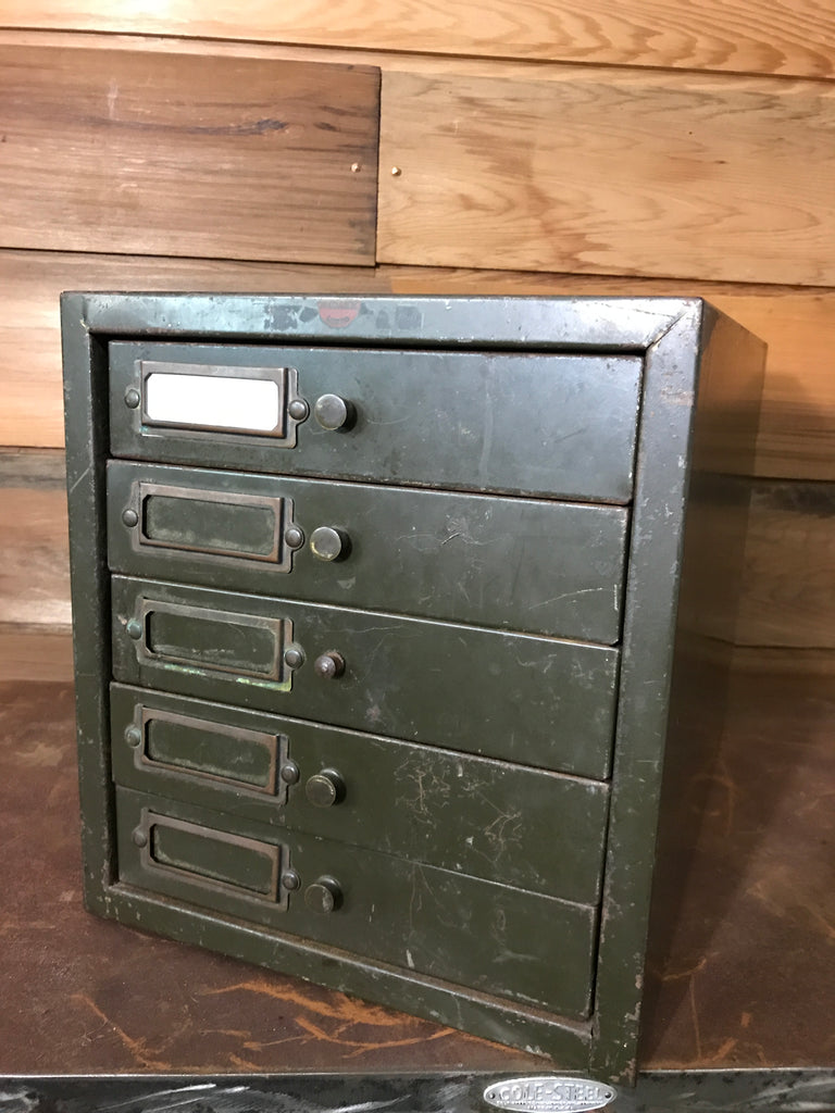 Filing Drawers - Olive Green