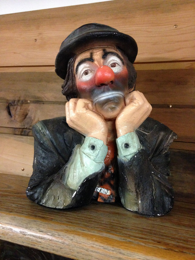 Clown Bust Reflecting