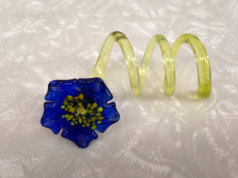 Handmade Glass Napkin Rings