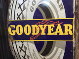 GOODYEAR Double Sided Enamel Sign