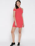 Coral Cold Shoulder Bodycon Dress5