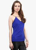 Royal Blue Chain Strap V Neck Cami Top