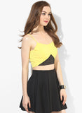 Yellow Tape Detail Strappy Crop Top3