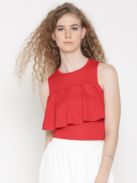 Red Ruffle Tank Top1