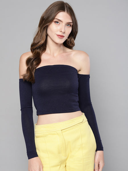 Navy Tube Full Sleeve Top1