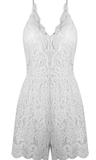 SHERRY WHITE LACE PLAYSUIT