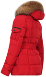 PARIS QUILTED RED FUR JACKET