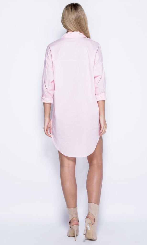 TIBBY BABY PINK SHIRT DRESS