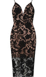 SANITTA BLACK LACE DRESS