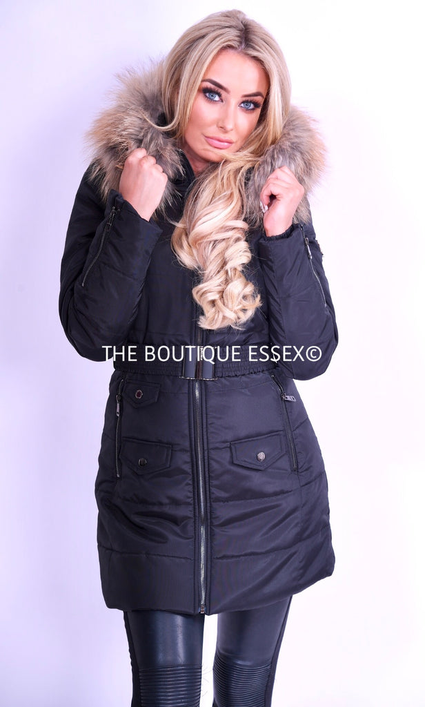 GRACEY BLACK FUR JACKET