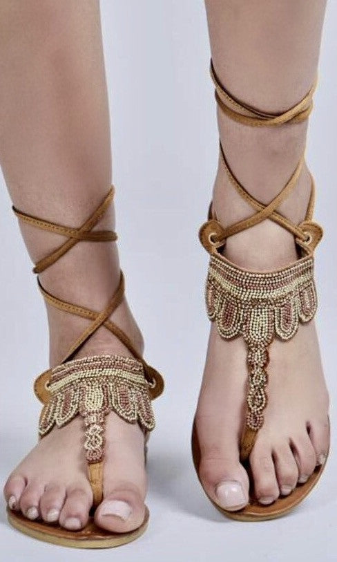 GILLY TIE SANDALS