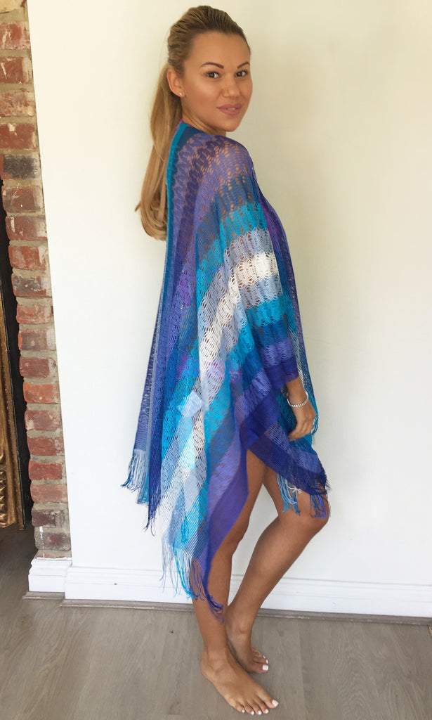 MISSONI BLUE KAFTAN TOP