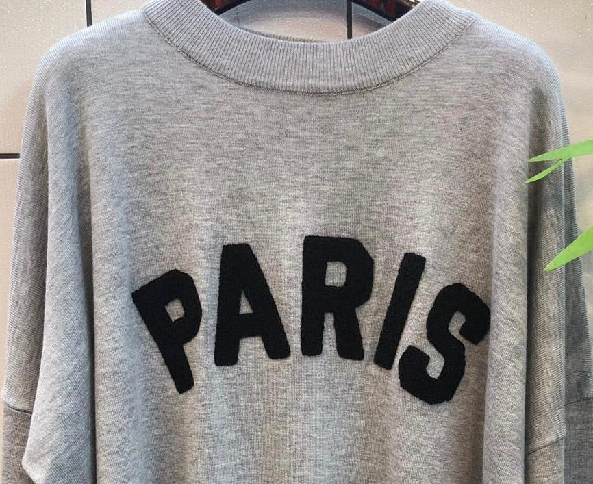 PARIS KNITTED GREY TRACKSUIT