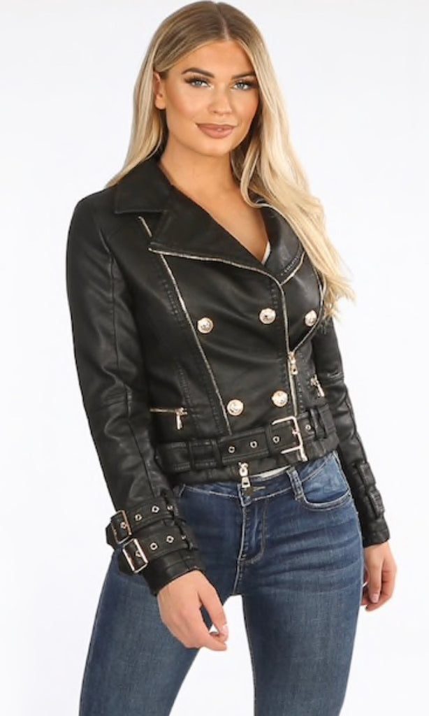 VALENCIA BLACK PU JACKET