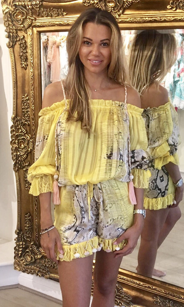 BIANCA YELLOW PLAYSUIT