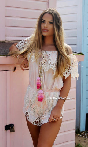 ST TROPEZ PEACH PLAYSUIT