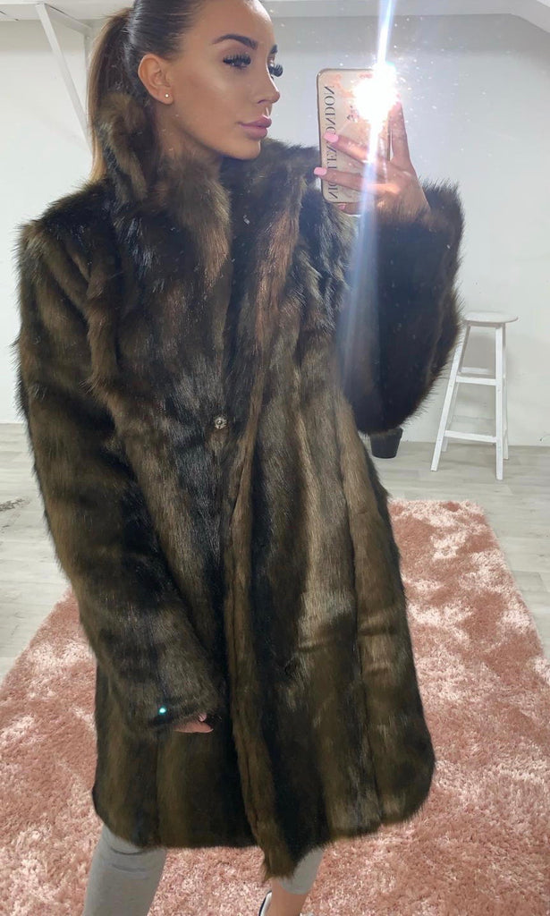 GIGI FAUX FUR COAT