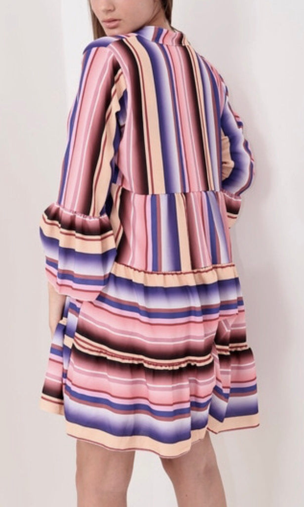 JAZZ MULTI STRIPE DRESS