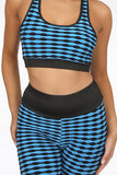 TAYLA BLUE & BLACK GYM 2 PIECE SET