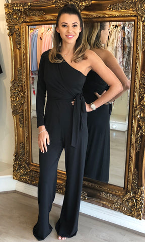 JANEY BLACK JUMPSUIT