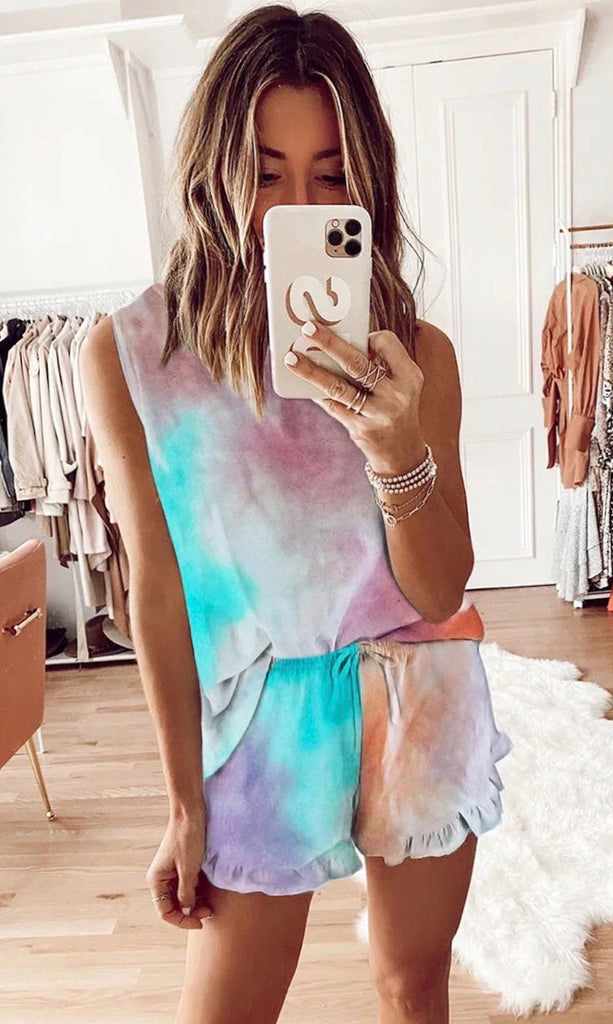 NELLIE BLUE/PINK TIE DYE SET