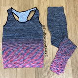 BIBA GREY/PINK GYM SET