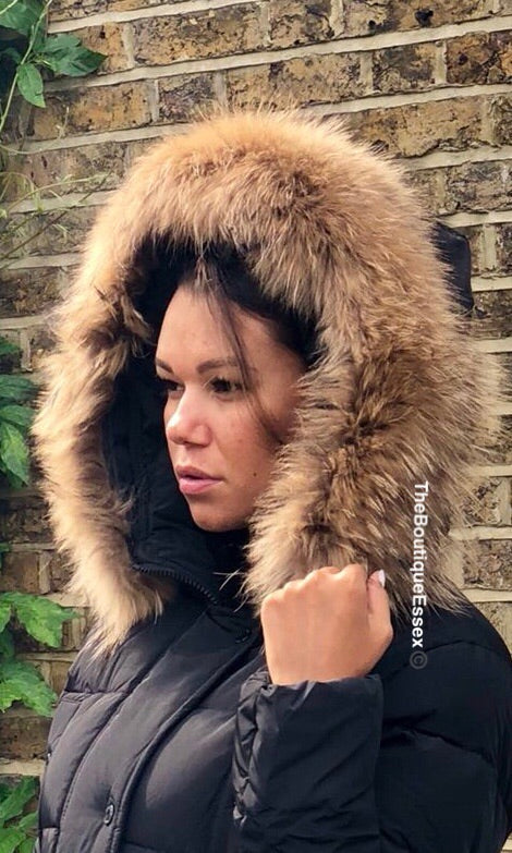 MORGAN BLACK/NATURAL FUR JACKET