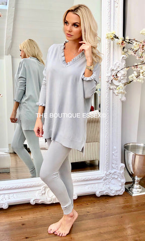 CATTIE LIGHT GREY 2 PIECE SET