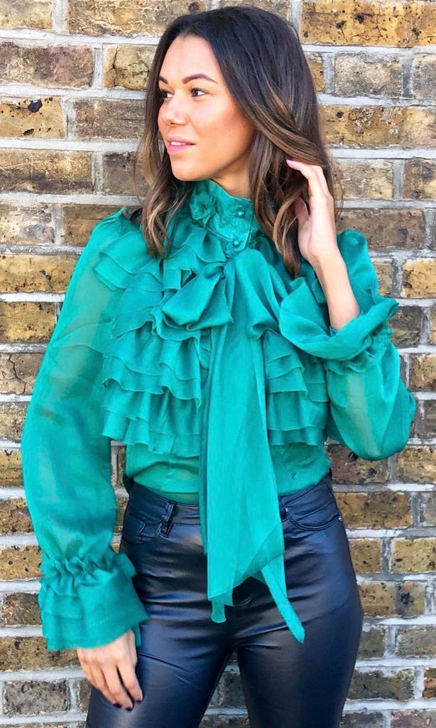 LAURIE GREEN BLOUSE